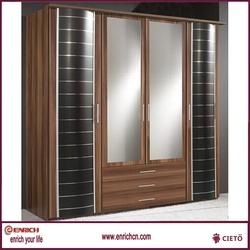 2014 hot sale Modern 2-door steel clothing cabinet with bench