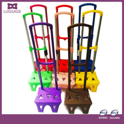 Firm frame colorful travelling trolley bag parts