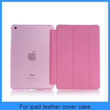 For apple ipad mini samrt cover with translucence PC back cover combo mini ipad case