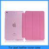 For apple ipad mini samrt cover with translucence PC back cover combo mini ipad case