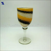 solid swirl colored thick wine glass