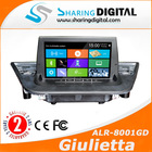 car autoradio for 2008-2014 ALFA ROMEO GIULIETTA with gps navigation support blue & me system