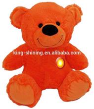 Singing Flashing Red Bear Musical Plush Toy