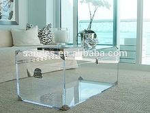 Costom Pure Unique Lucite Trunk Table