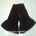 Moda 2014 negro de punto bufanda de la piel/por chal de piel de visón