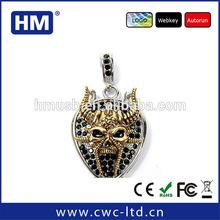 Wholesale jewelry diamond USB flash drive with key chain 2GB4GB8GB16GB custom solution package