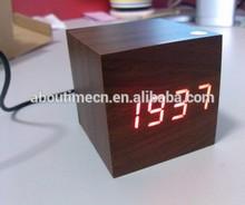 mini wooden LED digital clock