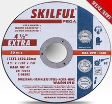 """4.5"""" skilful abrasive stainless steel Cutting disc 1.0/2.0/2.5mm with MPA ,EN-12413"""