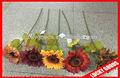 özel dekoratif tek bir kök ipek yapay çiçek ayçiçeği
