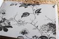 Estilo Oriental papel de parede plant design não tecido papéis de parede wallcovering preto e branco