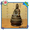 sgb239 tibetano antiguo de resina de color de la pintura de buda