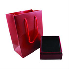 Red Colored Paper Jewelry Gift Boxes and Bags with Pillow for Ring Necklace Bracelet