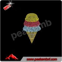 Sweet Ice Cream Rhinestone Motif Designs Wholesale For Baby T Shirts
