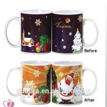 2014 New Style Christmas Gifts ceramic Mug/Christmas Gifts Hot Water Mug Color Changing