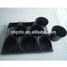 Flower pot with tray / Plastic flower pot base / Flower pot set