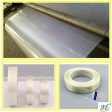 Transparent rubber adhesive fiberglass tape heat-resistant