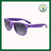 classic retro wayfarer sun glasses promotion custom sunglass dotted China Sun glass