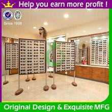 Fashion retail optical store wooden eyeglass display rack wholesale