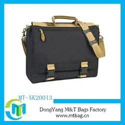Trendy university shoulder bag with leather trim