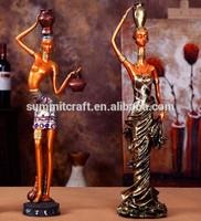 La pintura fashion resina figuras africanas