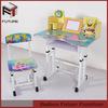 single cheap children school desk and chair