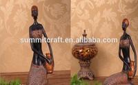 Manual de oro puro resina figuras africanas