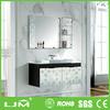 free standing environment-friendly exquisite slim bathroom storage cabinet grey color
