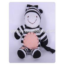 custom lovely plush zebra toy for promotion, animal plush toys