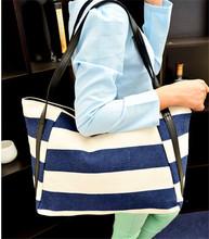 Fashion trend ladies blue and white stripe nautical handbags