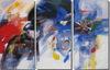 Decorazioni per la casa fatti a mano opere d'arte 3 pannello atmosfera gruppo di pittura a olio su tela