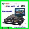 El mejor precio ts-210series 4 canales puerto lan g- sensor de tarjeta sd función recor h. De compresión 264 gps del coche dvr