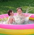 hot-- بيع نفخ الأطفال غروب الشمس يتوهج بركة