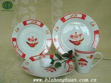 Holiday Decoration & Gift Use Christmas snowman porcelain dinner set