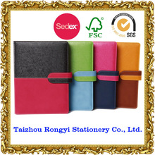Bright color pu leather diary organizer/planner/diary