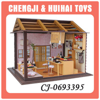 2014 Newest diy mini wooden house model toy for kids education gifts