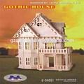 casa de bonecas de madeira 3d puzzle miniatura vintage criança brinquedo villa gótico artesanal kit