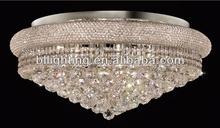 Hotel crystal fluorescent ceiling light fixture