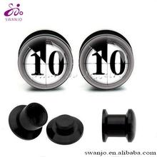 UV Acrylic Film Reel Ear Plug Tunnel Fashion Body Piercing Jewelry Wholesale