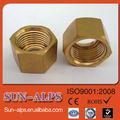 professional fournir la taille standard de haute qualité en cuivre écrous hexagonaux
