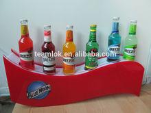 LED acrylic 6 wine bottles display racks