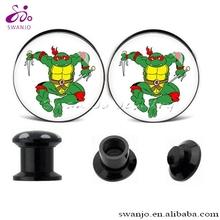 nuovo 2014 designuv acrilico tartaruga ninja tappi per le orecchie foto abbastanza orecchio moda body piercing gioielli