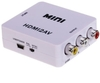 Hot Sale Mini HDMI to RCA AV/CVBS Composite Adapter Converter for PC/PS3/VCR/DVD PAL/NTSC