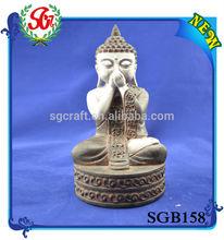 SGB158 Antique Titter Pose Figurine Buddha Carving