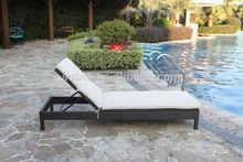 5-Position Ajustable Outdoor Garden Steel Rattan/wicker Lounge