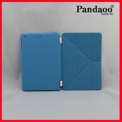 Foldable stand flip leather case for ipad mini