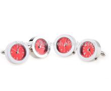 Round Red Real Watch Cufflink