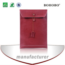 envelope style leather sleeve for Macbook Pro 15 inch laptop case