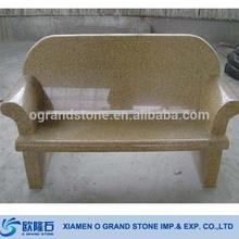 Yellow Granite G682 Outdoor Stone Garden Sit Up Bench