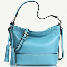 GL397 women accessories china genuine leather handbag with tassel