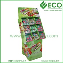 9 Cells Cardboard Floor Candy Display Containers for Candy Store Display